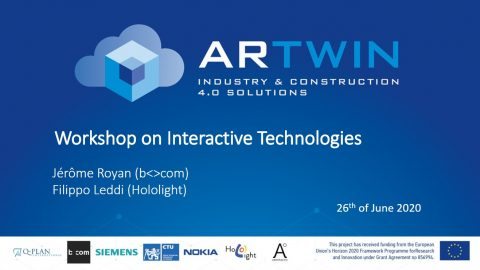 ARtwin participated in the Coordinator workshop on Interactive Technologies